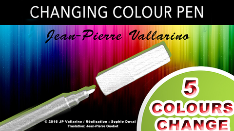 Color Changing Pen by Jean-Pierre Vallarino - Trick