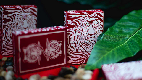 The Hidden King Red Luxury Edition Playing Cards by BOMBMAGIC