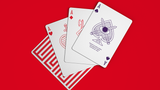Red Enigma Playing Cards