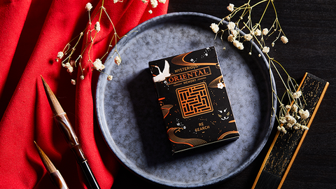 Oriental Memory Black playing Cards