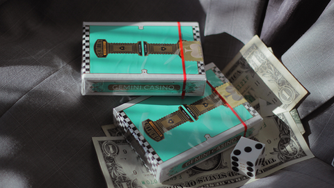 Gemini Casino Turquoise Playing Cards by Gemini