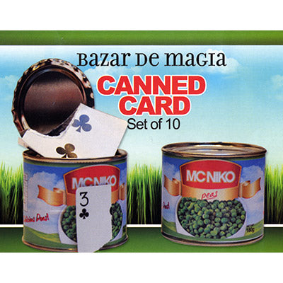 Canned Card (Red) ( Set of 10 Cans )by Bazar de Magia - Trick