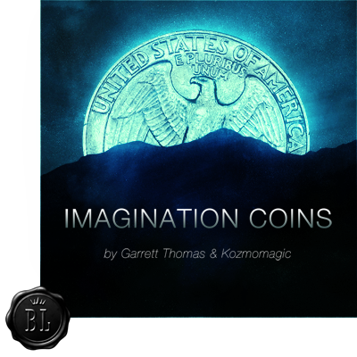 Imagination Coins US Quarter (DVD and Gimmicks) by Garrett Thomas and Kozmomagic - DVD