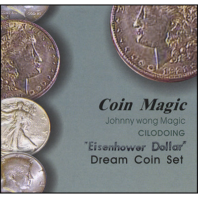 Dream Coin Set EISENHOWER (with DVD) by Johnny Wong - Trick