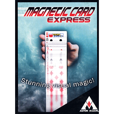 Magnetic Card Express (Blue) by Astor Magic - Trick