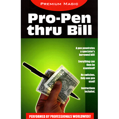 Pro Pen Through Bill by Premium Magic - Trick