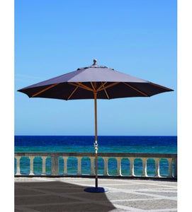 Galtech 587 - 11 FT Navy Blue Teak Market Umbrella