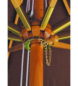 Galtech 11' Wood Umbrella with 8 Ribs