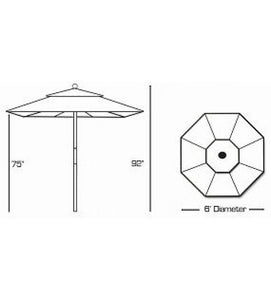 Galtech 111/211 - 6 FT Café Umbrella Sketch