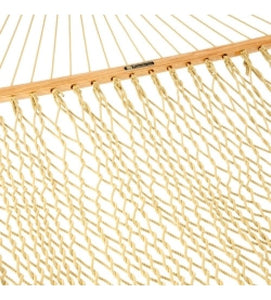 Pawleys Island DuraCord Rope Hammock - Tan Hanging distance 15'
