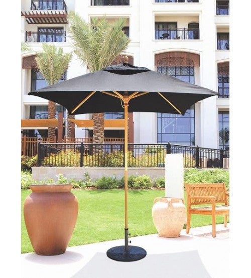 Galtech 161 -Black  6x6 FT Square Café Umbrella