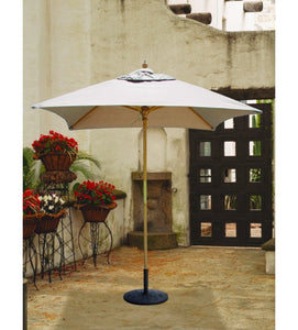 Galtech 161 -White  6x6 FT Square Café Umbrella