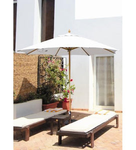 Galtech 183 -White 11 FT Wood Market Umbrella