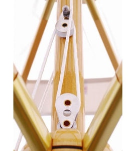 11 FT Wood Market Umbrella connected with a threaded coupling
