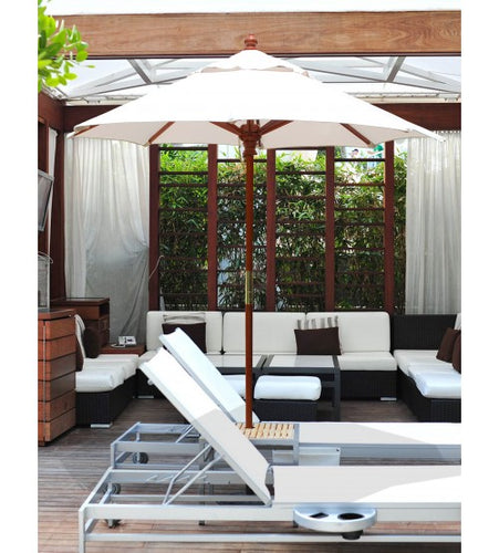 Galtech 111/211 - 6 FT White Café Umbrella