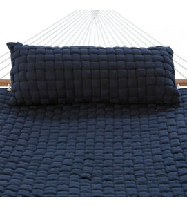Soft Weave Deluxe Hammock Pillow - Navy With Top Pillow