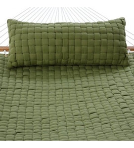 Soft Weave Deluxe Hammock Pillow - Light Green With Top-Pillow