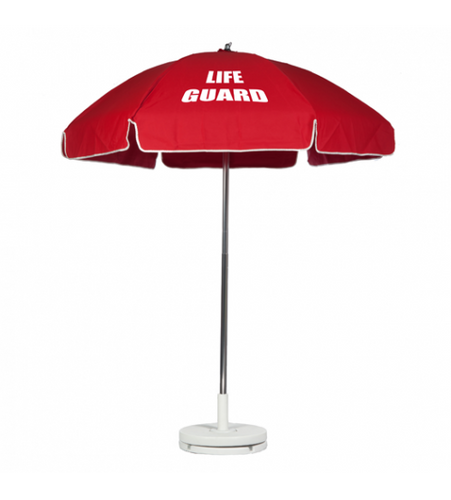 Fiberglass Commercial Beach Red Umbrella 6.5'