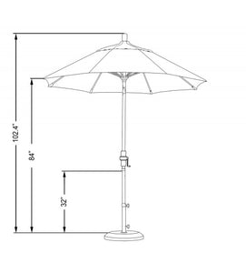 Sun Master 7.5' Fiberglass Umbrella sketch
