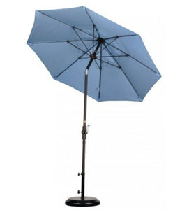 Sun Master 7.5' Fiberglass Air Blue Umbrella With Conopy