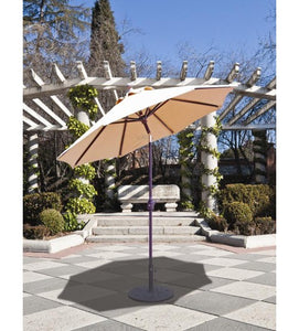 Galtech 727 - 7.5 FT Deluxe Auto Tilt Patio Off White Umbrella