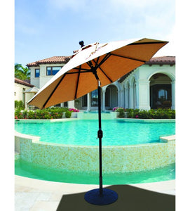 Galtech 727 - 7.5 FT Deluxe Auto Tilt Patio Umbrella With Crank Machanism