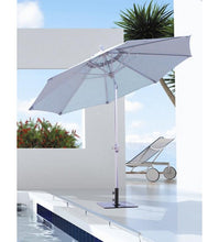 9 FT White Deluxe Auto Tilt Patio Umbrella
