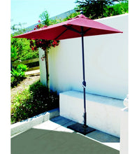 3.5x7 FT Half Wall Commercial Patio jockey red Umbrella
