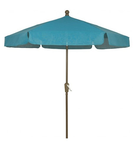 Fiberbuilt 7.5' Garden Forest Green Mesh  Umbrella - Push Up