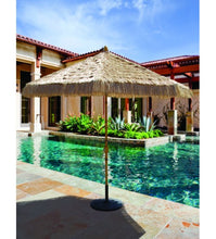 Galtech 9' Thatch Replacement Natural Thatch Umbrella Canopy