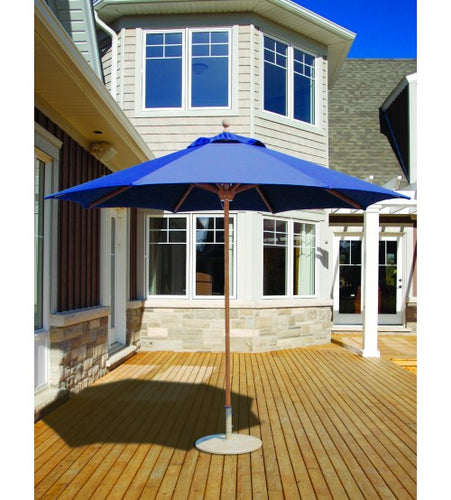 Galtech 532 -  Blue 9 FT Teak Market Umbrella