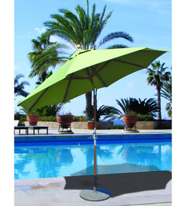 Galtech 537 -Parrot Green 9 FT Teak Market Umbrella