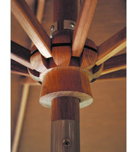 9 FT Teak Market Umbrella 9' Octagonal With 8 Ribs