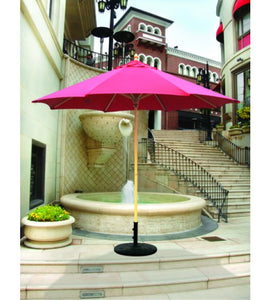 Galtech 136 - Burgundy 9 FT Commercial Wood Market Umbrella