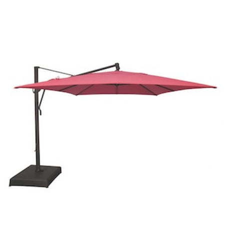 Treasure Garden 10' X 13' Cantilever Umbrella with stand Top view