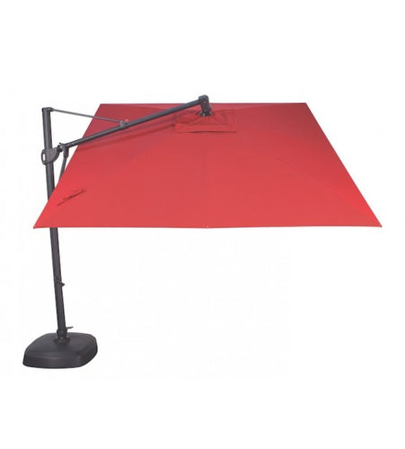 10' Cantilever Orange Umbrella - O'Bravia Polyester Fabric top view