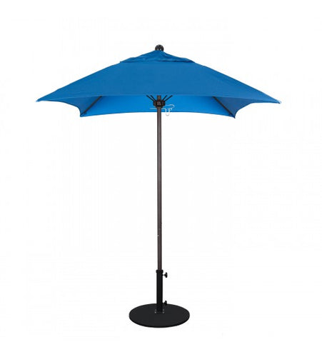 Venture Series 6' Square Fiberglass Commercial Grade Pacific Blue Umbrella