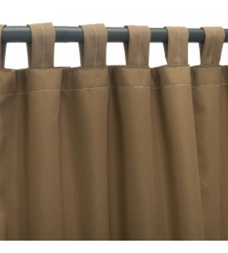 Sunbrella Outdoor Curtain With Tab Top - Canvas Cocoa
