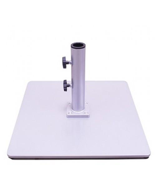 Galtech 60 LBS Square Commercial Umbrella Base - Silver
