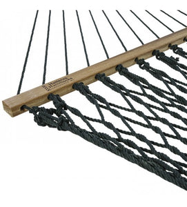 Deluxe Meadow Duracord Rope Hammock Zinc-plated hanging hardware includes 2 tree hooks