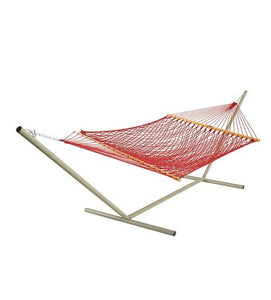 Pawleys Island Large DuraCord® Rope Hammock - Garnet weight capacity 450 LBS