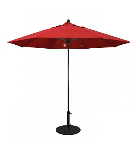 9' Round All Fiberglass Orange Umbrella