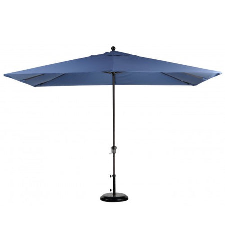 BLUE 11x8' Rectangular Market Umbrella - Sunbrella