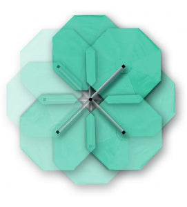 "Shademaker 13'1"" Octagon (Round) Orion Cantilever Aqua Awning Grade"