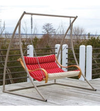 Steel Double Swing Stand - Taupe