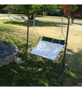 Black-Steel Swing Stand  Fits either single or double swings