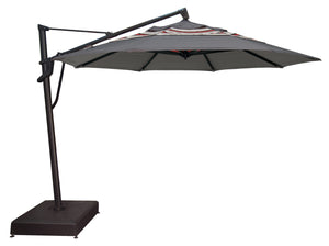 Treasure Garden 11' AKZ PLUS Cantilever Umbrella - O'bravia Fabric (Polyester)