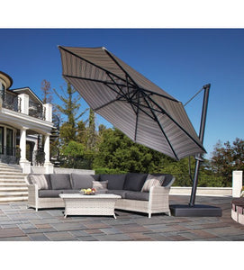 Adjustable 13' PLUS Octagon Cantilever Umbrella - Sunbrella