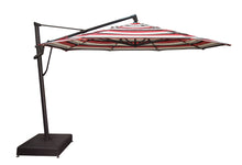 Treasure Garden 13' AKZ Octagon Cantilever Umbrella with stand side view