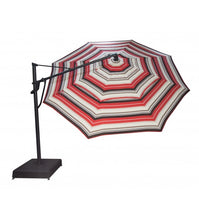 Treasure Garden 13' Cantilever tilt Umbrella orange grey cream combination